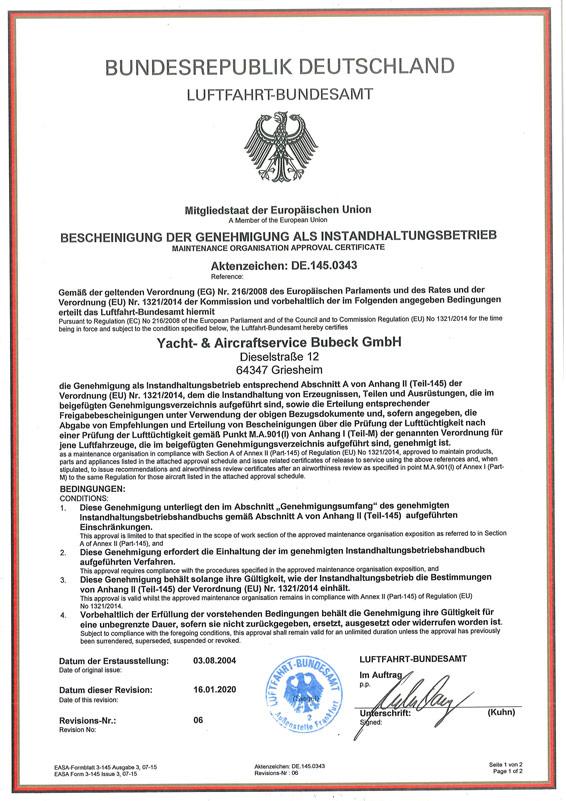 Urkunde-145-Genehmigung-Betriebsstätte-Basel-1